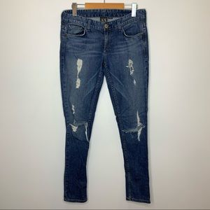 Armani Exchange Distressed Skinny Jeans Short